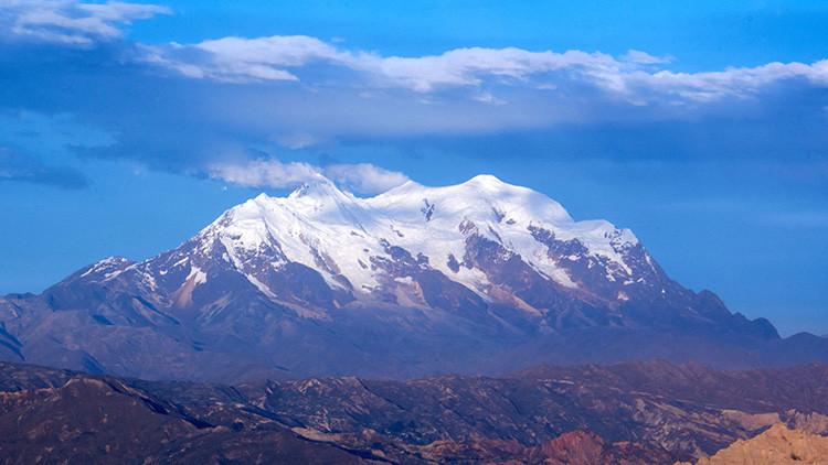 Montaña del Illimani, La Paz, Bolivia, vista desde la cuidad de El Alto.