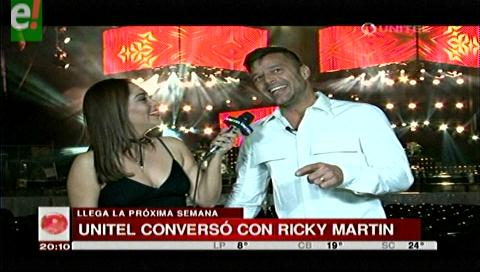 Ricky Martin promete una gran fiesta en Santa Cruz