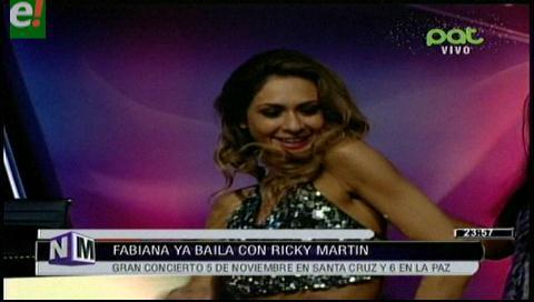 Fabiana ya baila con Ricky Martin