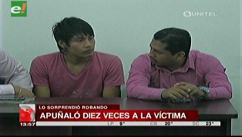 Joven que apuñaló diez veces a su víctima es enviado a Palmasola