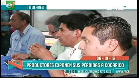 Titulares de TV: Productores se reunieron con el ministro Cocarico, expusieron las cifras de las pérdidas por la sequía