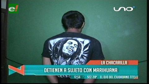 Arrestan a joven con marihuana en el barrio La Chacarilla
