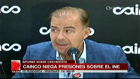 Informe sobre crecimiento: Cainco niega presiones sobre el INE