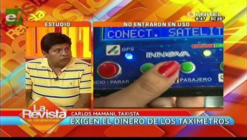 Choferes exigen a la Alcaldía cruceña la devolución de su dinero por la compra de taxímetros