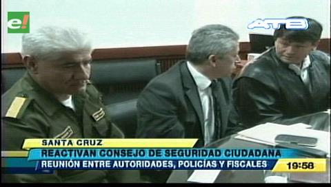 Reactivan el Consejo de Seguridad Ciudadana en Santa Cruz