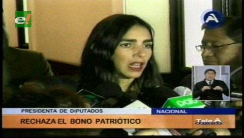 Diputada Montaño critica la propuesta de la COB sobre un bono patriótico