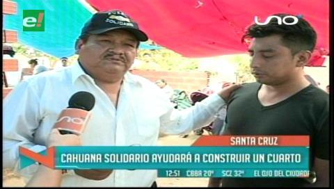 Pueblo solidario ayuda a construir casa de Seleidy
