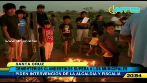 Santa Cruz: Los cementerios clandestinos superan en número a los municipales