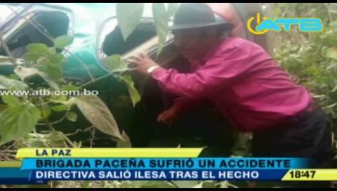 Directiva de la Brigada Parlamentaria de La Paz sufrió un accidente de tránsito