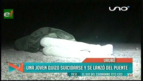Intentó suicidarse: Joven se lanzó del puente Urubó