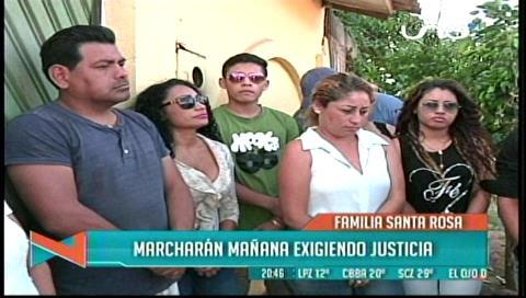 Familia Santa Rosa convoca a una marcha para exigir justicia