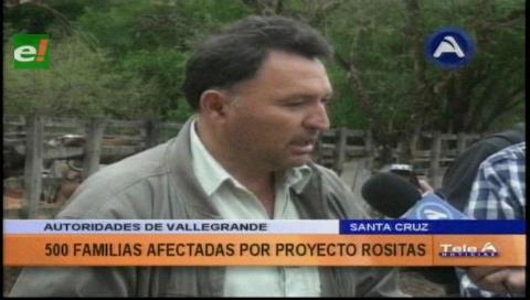 500 familias serán afectadas con el proyecto Rosita