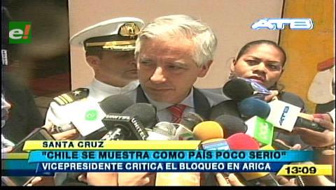 Vicepresidente califica a Chile como país poco serio