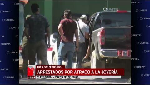 Policía aprehende a tres sospechosos de atracar la joyería de Equipetrol