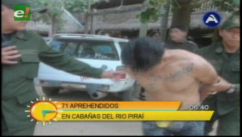 Policía arrestó a 61 personas en estado de ebriedad en Las Cabañas del río Piraí