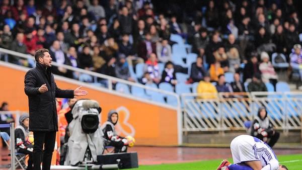 El equipo de Simeone perdió en la previa del duelo con Real Madrid, tras el parate por las Eliminatorias.(AFP)