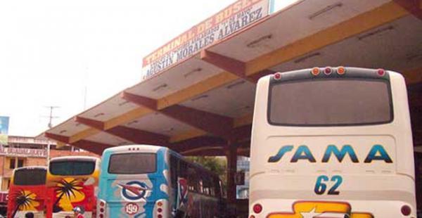 El agua para la terminal de buses es suministrada por camiones cisternas