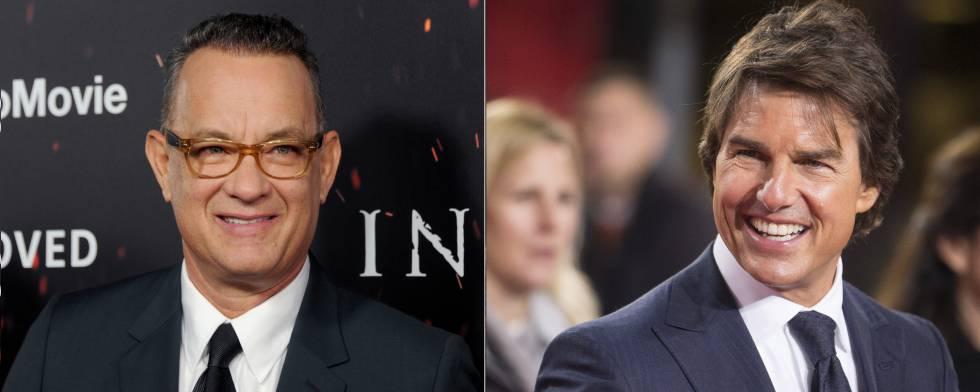 Los actores Tom Hanks y Tom Cruise.