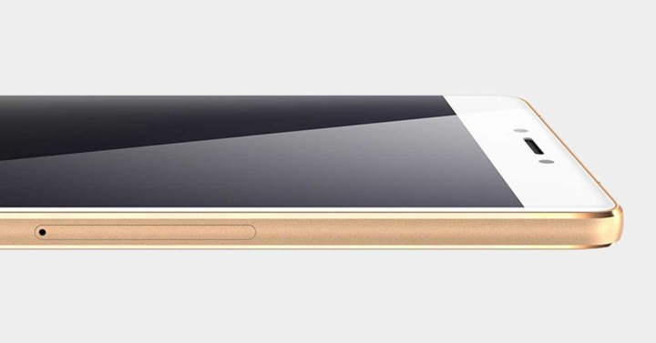 Gionee S8 de color blanco y dorado