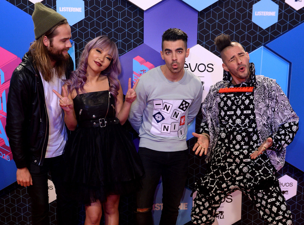 Jack Lawless, JinJoo Lee, Joe Jonas, Cole Whittle, DNCE, EMA