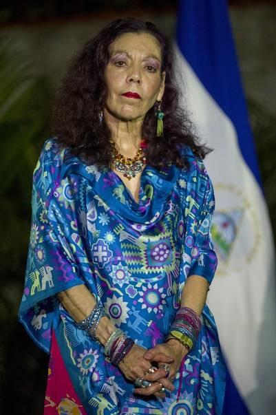 La primera dama nicaragüense y ahora vicepresidenta electa, Rosario Murillo, anoche en Managua. / EFE