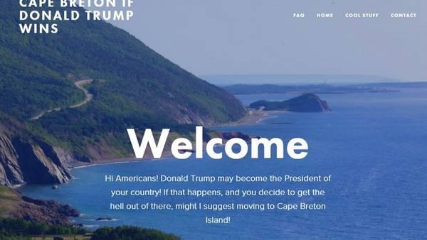 La isla de Cabo Bretón en Canadá invita a vivir a los norteamericanos si Trump gana.