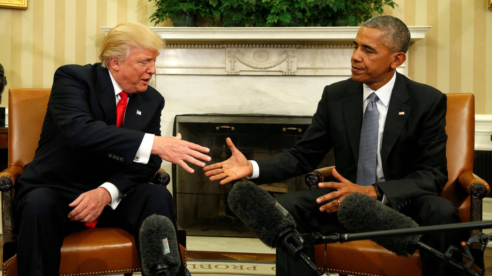 Foto: Donald Trump y Barack Obama durante su encuentro en la Casa Blanca. (Reuters)