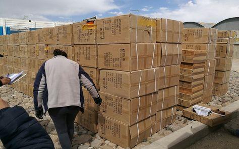 Mercadería de contrabando incautada en Sabaya en un operativo el 11 de octubre de 2016.