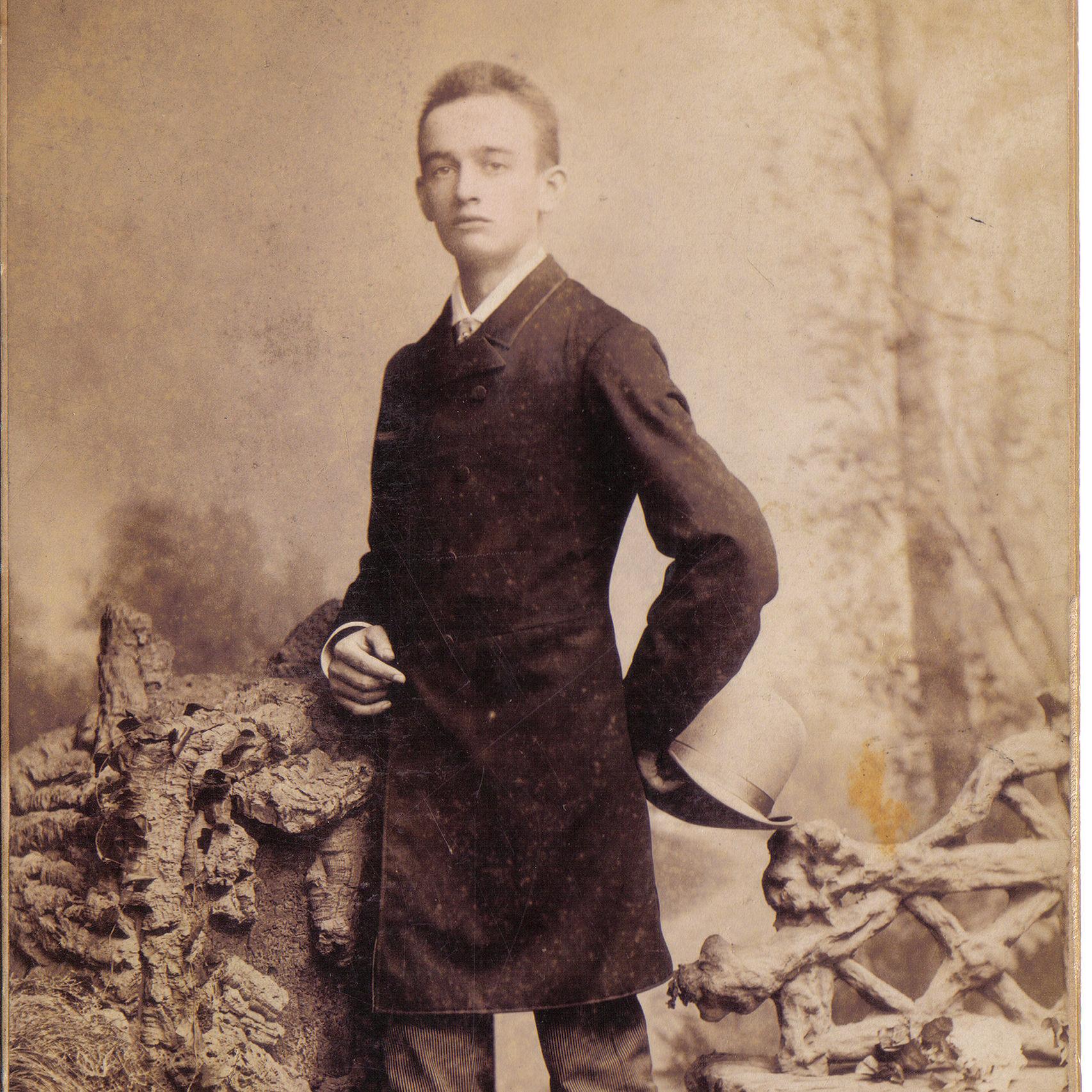 El abuelo paterno de Donald Trump, Frederick, en una imagen de 1887.