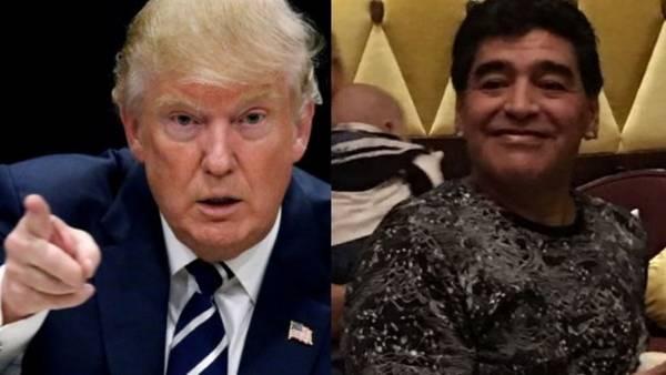 Donald Trump y Diego Maradona, comparados por un periodista inglés.