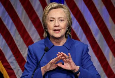 Hillary Clinton en su primer discurso tras la derrota electoral. REUTERS