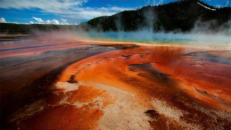 El Parque de Yellowstone, Wyoming, EE.UU.