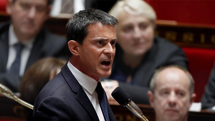 El primer ministro de Francia, Manuel Valls, durante una sesión de control al Gobierno en la Asamblea Nacional, París, Francia, 16 de noviembre de 2016.