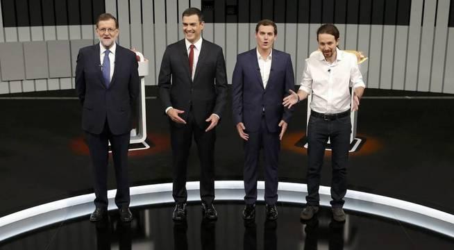 Todos son delgados y están en forma, menos Rajoy. (Antena 3)