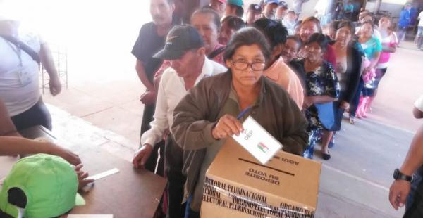 En el municipio de Gutiérrez la jornada electoral se desarrolla con normalidad