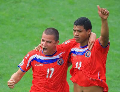 Badilla con Ronald Gómez, en el Mundial de Alemania.