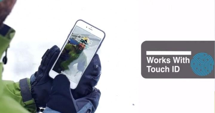 guantes sensor de huella dactilar