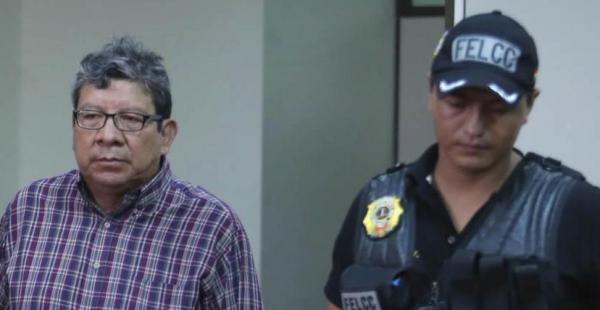 David Mollinedo, alcalde de Concepción, durante su audiencia cautelar en el Palacio de Justicia de Santa Cruz