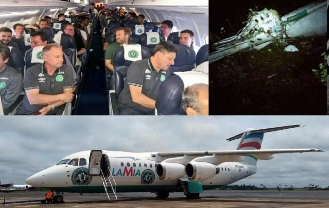 Avión boliviano se accidenta en Colombia con el club brasileño Chapecoense a bordo