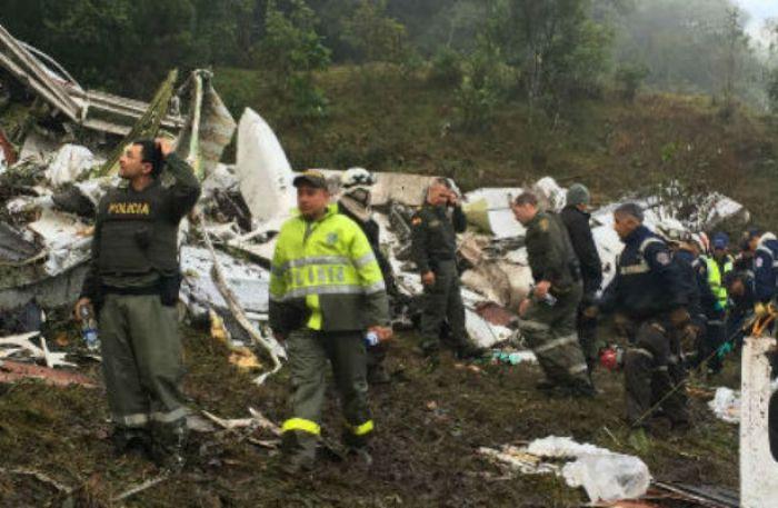 Posible desabastecimiento de combustible habría causado accidente de avión del Chapecoense
