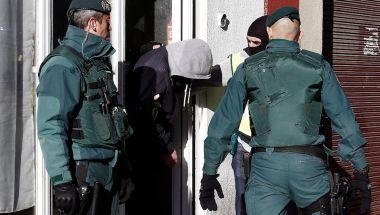 Detención de un presunto colaborador de ISIS en Pamplona, España, el pasado mes de diciembre (ANDER GILLENEA/AFP/Getty Images)