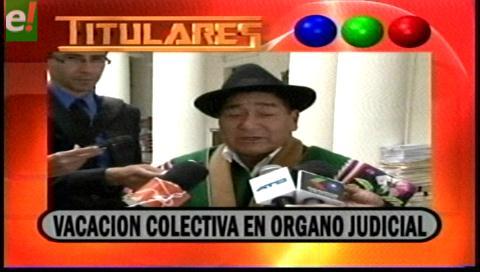 Titulares de TV: Vacación colectiva en el Órgano Judicial del 5 al 29 de diciembre