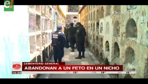 Hallan feto en un nicho del cementerio de La Paz