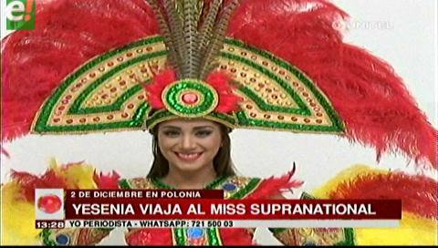 Yesenia Barrientos es Bolivia en concurso internacional