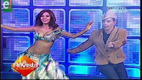 """Mira el baile de """"Cambinflas"""" con la bella Miss Bolivia Mundo"""