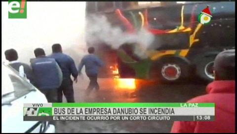 Bus se incendió en El Alto