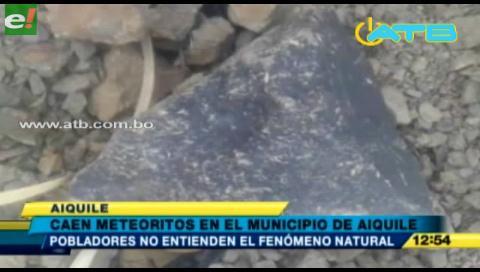 """Lluvia de meteoritos"" provocó zozobra en Aiquile"