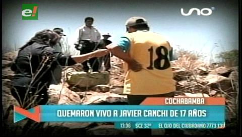 Muerte de un joven quemado vivo por pandilleros conmociona a Cochabamba