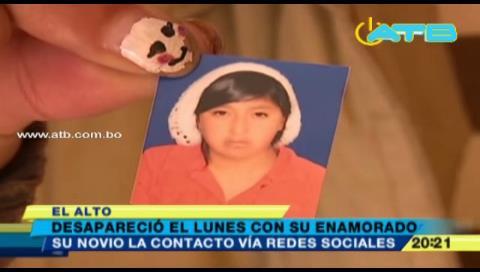 El Alto: Joven de 19 años desaparece tras ser contactada por Facebook