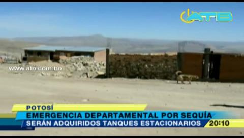 Potosí se encuentra en emergencia departamental por la sequía